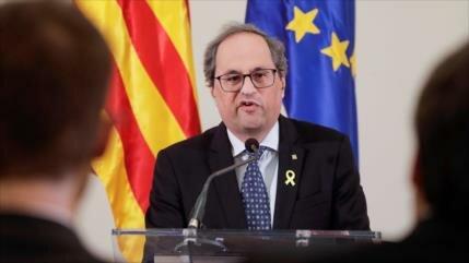 Torra reclama frente común contra la represión del Estado español