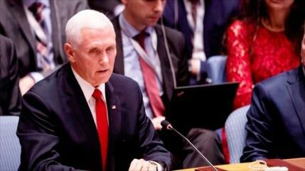 Pence al embajador venezolano en CSNU: Usted no debería estar aquí