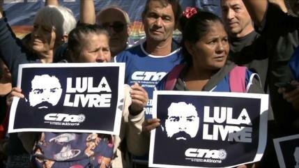 Piden libertad de Lula desde Argentina