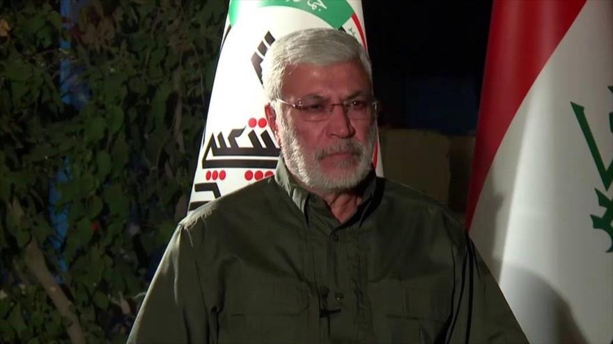 El subcomandante de las Fuerzas Populares iraquíes (Al-Hashad Al-Shabi, en árabe), Abu Mahdi al-Muhandis.