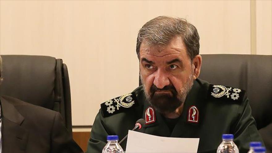 Elsecretario del Consejo de Discernimiento del Sistema de la República Islámica de Irán, Mohsen Rezai, 10 de abril de 2019. (Foto: SNN)