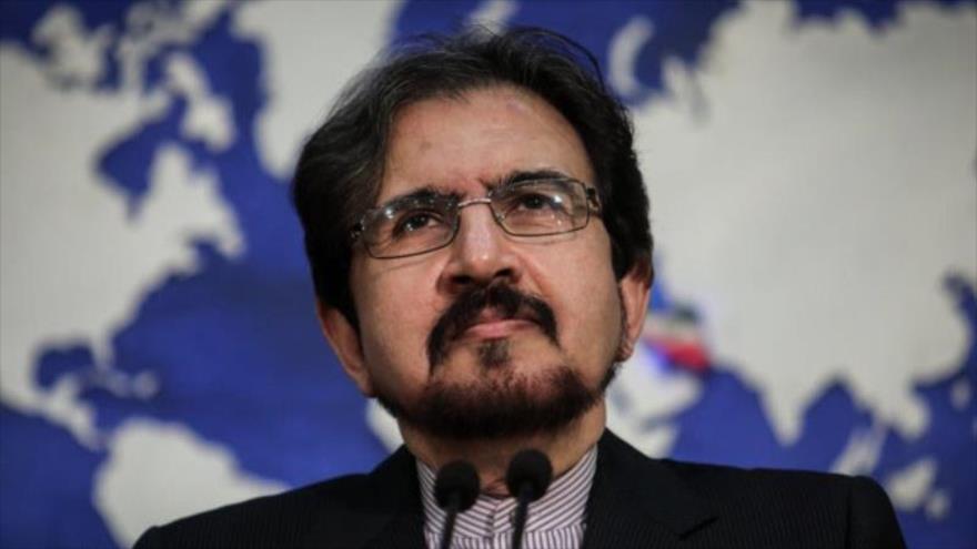 El portavoz del Ministerio de Relaciones Exteriores de Irán, Bahram Qasemi. (Fuente: Agencia MEHR)