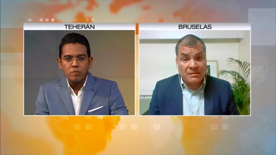 Correa concede entrevista a HispanTV sobre arresto de Assange