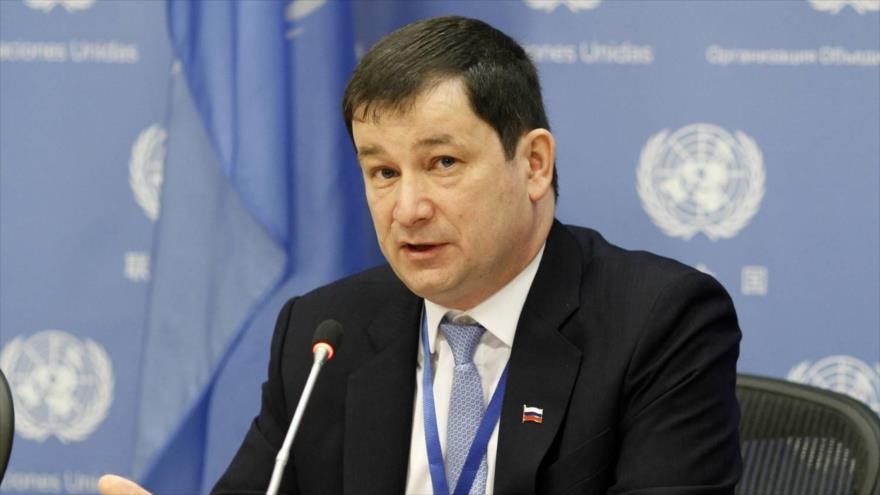 El embajador adjunto de Rusia ante la Organización de las Naciones Unidas (ONU), Dmitri Polianski.
