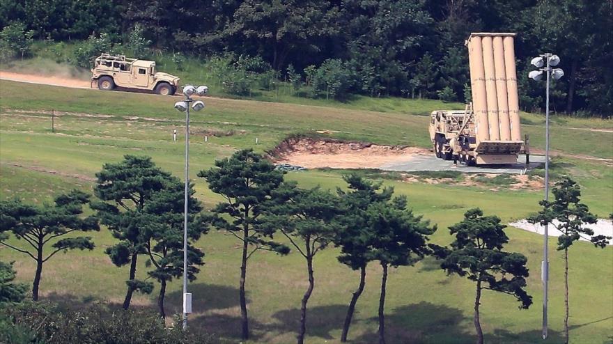 El sistema antiaéreo THAAD de EE.UU., desplegado en Corea del Sur, 4 de septiembre de 2017. (Foto: AFP)