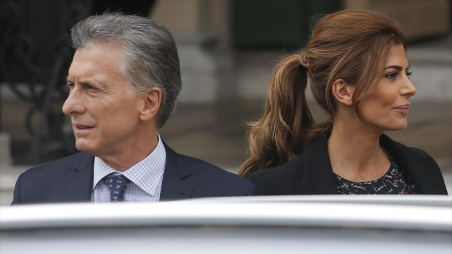 El presidente argentino, Mauricio Macri, y su esposa, Juliana Awada, en Córdoba (Argentina), 27 de marzo de 2019. (Foto: AFP)