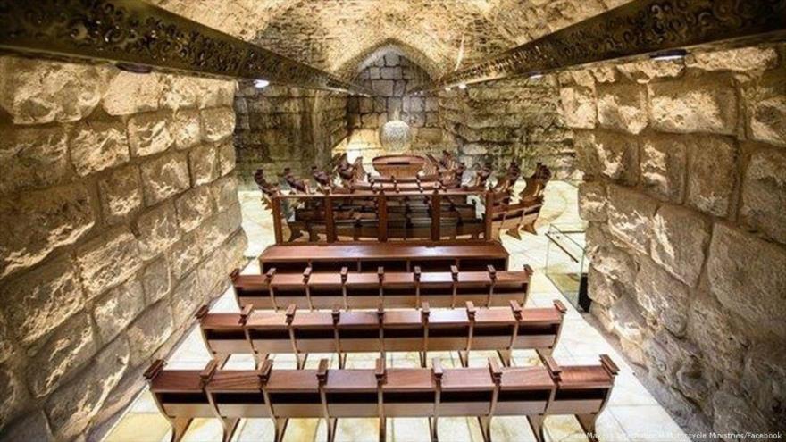 La sinagoga construida bajo el Muro de los Lamentos en Al-Quds (Jerusalén ), 19 de diciembre de 2017.