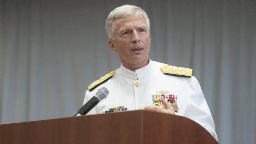 El jefe del Comando Sur de EE.UU., el almirante Craig Stephen Faller, habla durante un acto en Doral (Florida), 26 de noviembre de 2018.
