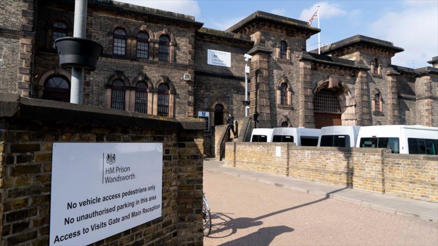 La prisión de Belmarsh, ubicada al sudeste de Londres, la capital británica, 12 de abril de 2019. (Foto: AFP)