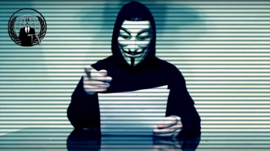Parte de un vídeo publicado por el grupo de activistas informáticos Anonymous.