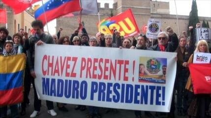 Italianos repudian injerencia de EEUU en asuntos de Venezuela