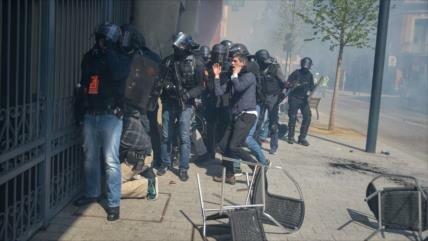 45 detenidos en protestas de 'chalecos amarillos' en Francia