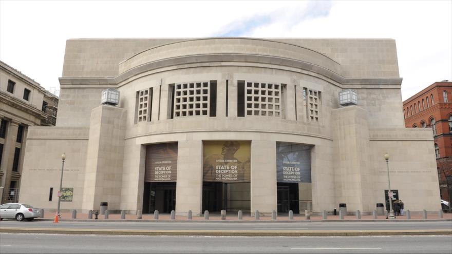 La fachada del Museo Estadounidense Conmemorativo del Holocausto en Washington, capital de Estados Unidos.
