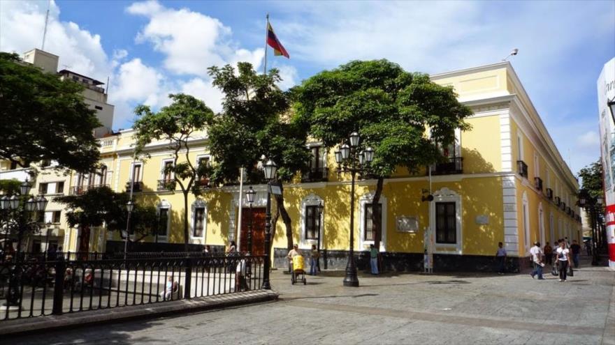 Sede del Ministerio de Asuntos Exteriores de Venezuela en Caracas (capital).