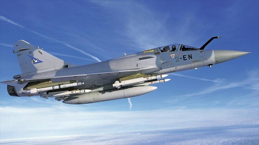 Un caza Mirage 2000-9, de la Fuerza Aérea de Francia.