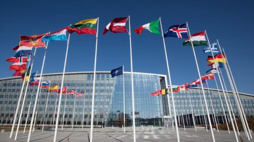 La sede de la Organización del Tratado del Atlántico Norte (OTAN) en Bruselas, la capital belga.