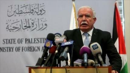 Palestina exige respuesta mundial a plan israelí en Cisjordania