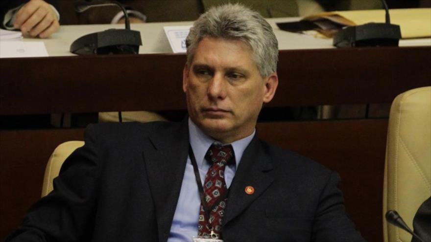 El presidente de Cuba, Miguel Díaz-Canel.