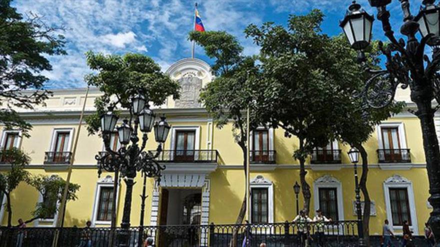 El edificio del Ministerio de Asuntos Exteriores de Venezuela, en Caracas, la capital.