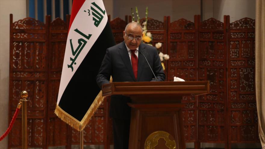 El primer ministro de Irak, Adel Abdul-Mahdi, ofrece un discurso en Bagdad, capital, 24 de octubre de 2018. (Foto: AFP)