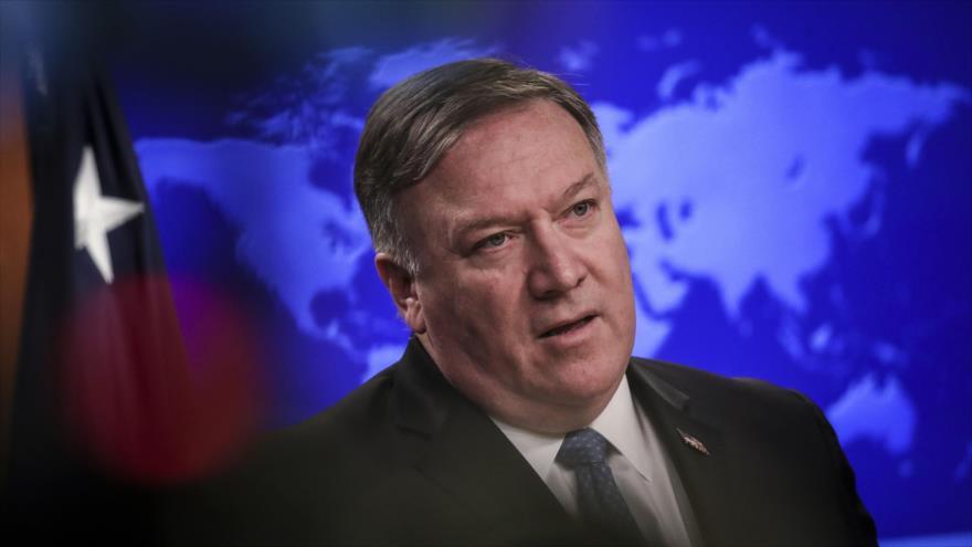 El secretario de Estado de EE.UU., Mike Pompeo, habla en una rueda de prensa en Washington, capital estadounidense, el 17 de abril de 2019. (Foto: AFP)