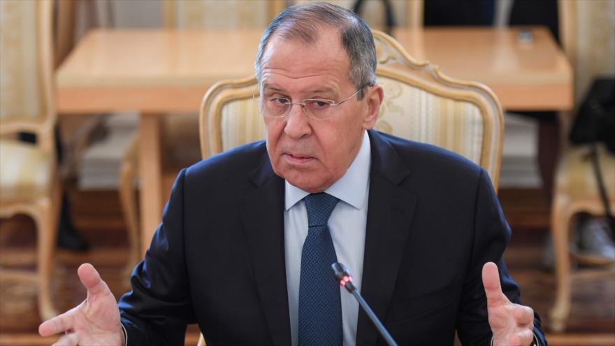 El canciller de Rusia, Serguéi Lavrov, durante una reunión en Moscú, 17 de abril de 2019. (Foto: AFP)
