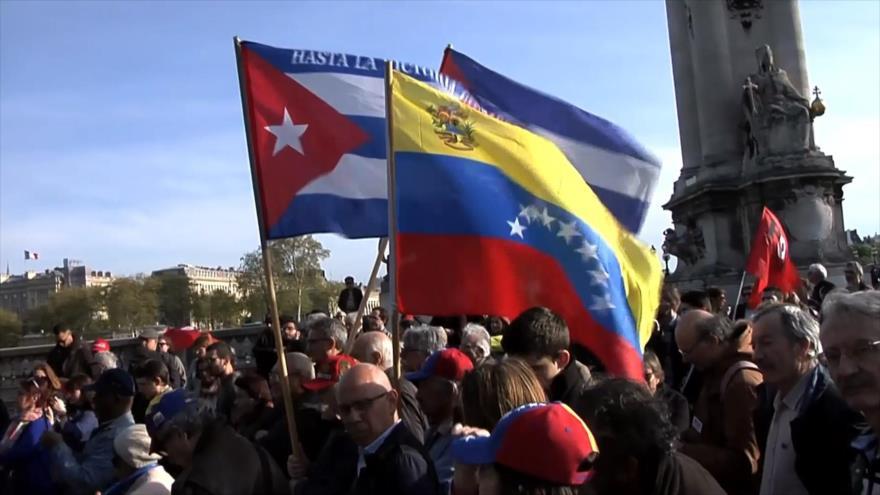 Franceses apoyan al pueblo venezolano y critican postura de Macron | HISPANTV