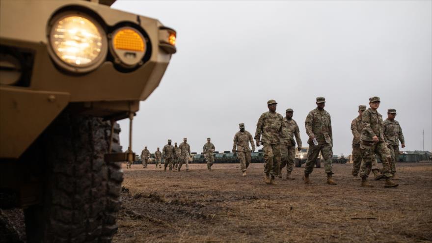 Soldados del Ejército de EE.UU. desplegados en la frontera con México, en una base en Donna, Texas, 22 de noviembre de 2018. (Foto: AFP)
