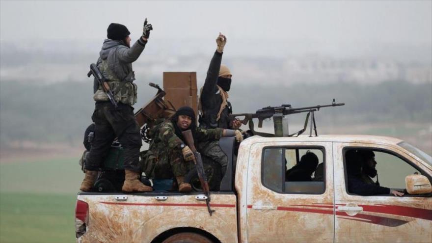 Miembros del antiguo Frente Al-Nusra (ahora Fath al-Sham) en Siria. 2017. (Foto: Reuters)