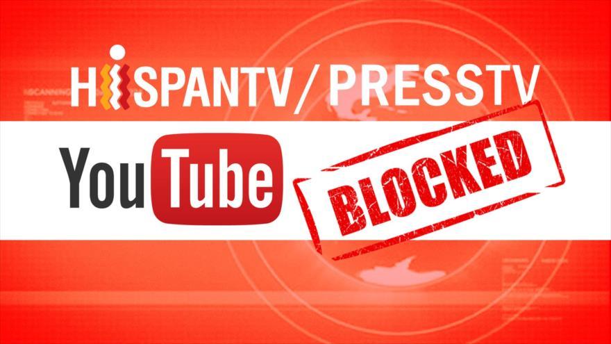 Google bloquea acceso de HispanTV y Press TV a sus cuentas de You Tube.