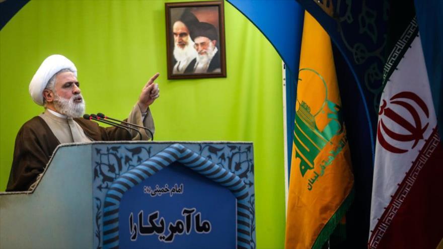 El vicesecretario general del Movimiento de la Resistencia Islámica de El Líbano (Hezbolá), el sheij Naim Qasem.