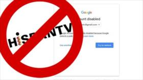 Google bloquea a HispanTV pese a sus contenidos claros en YouTube