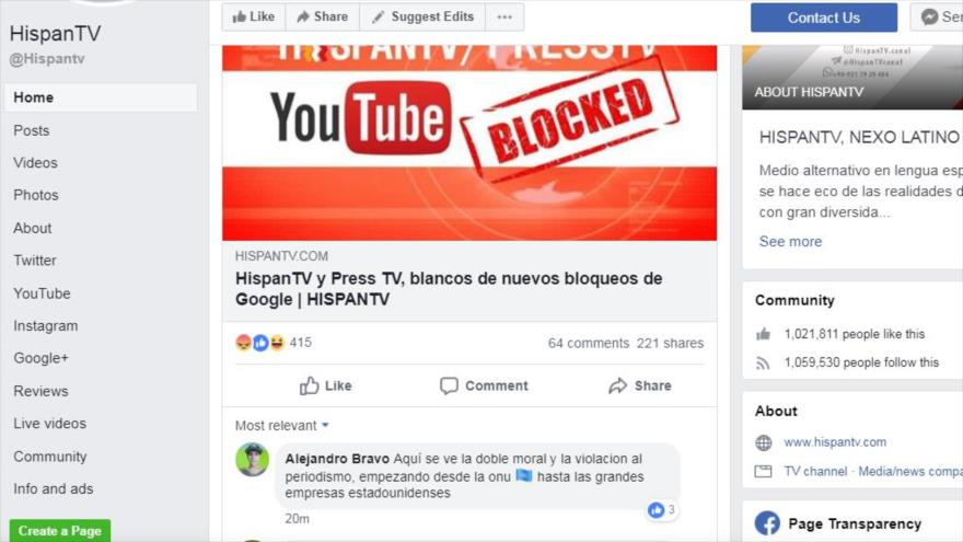 Usuarios condenan bloqueo de HispanTV y Press TV por Google | HISPANTV