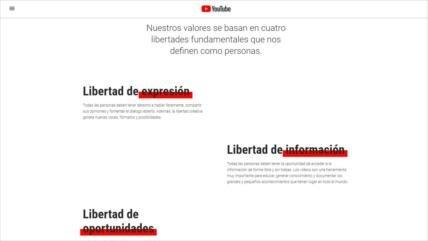 Youtube viola sus valores clave bloqueando a HispanTV y Press TV