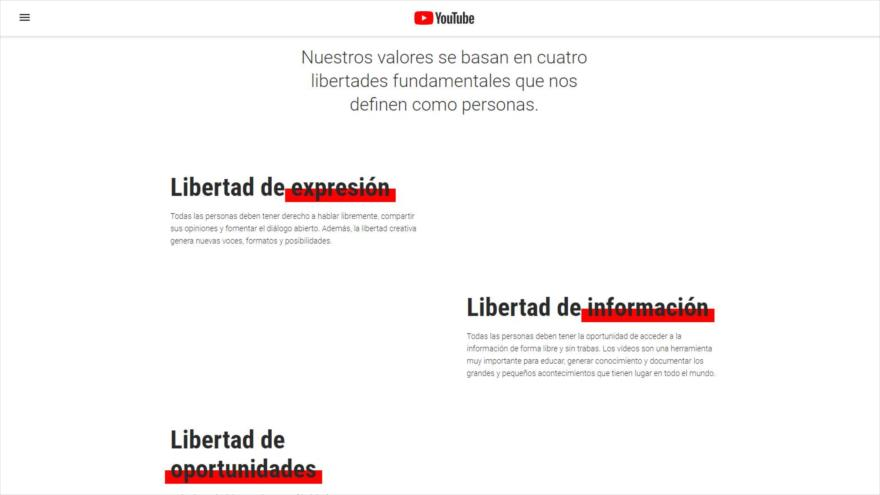 Youtube viola sus valores clave bloqueando a HispanTV y Press TV | HISPANTV