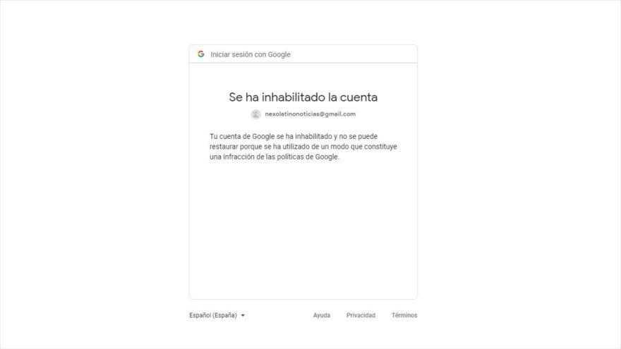 Mensaje mostrado al intentar ingresar en la sección de comentarios de HispanTV.