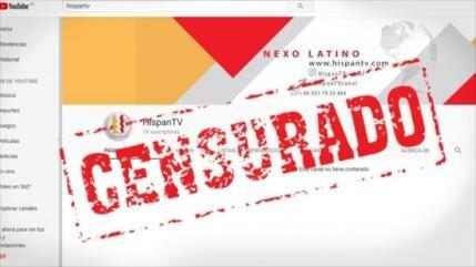 'Google obedece al sionismo y censura a HispanTV'