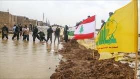 Hezbolá de El Líbano socorre a damnificados por riadas en Irán