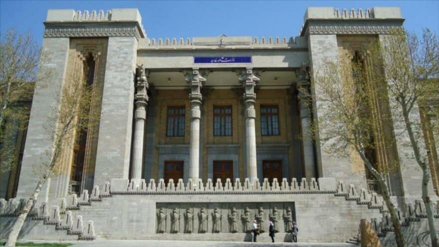 Edificio de la Cancillería de Irán en Teherán (la capital).
