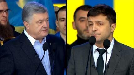Espectacular debate entre aspirantes a Presidencia de Ucrania