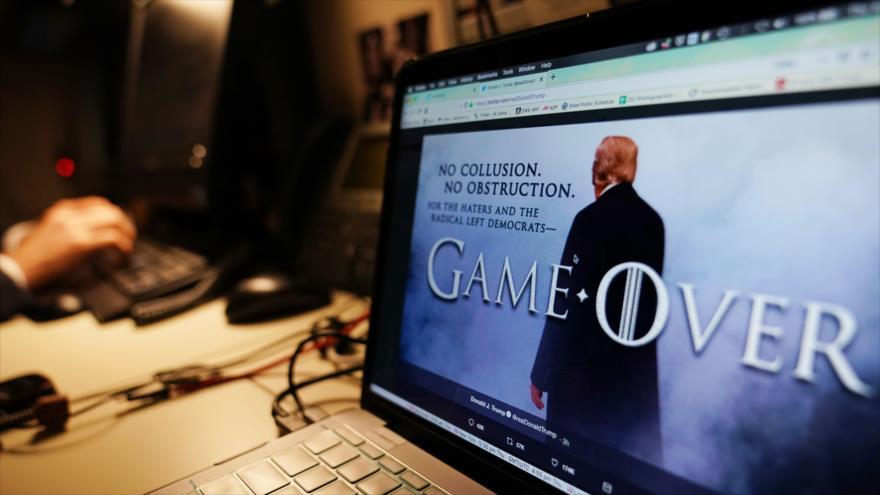 'Game Over': la frase de Trump tras la publicación el informe sobre posible coordinación entre su campaña electoral y Rusia en las presidenciales de 2016.