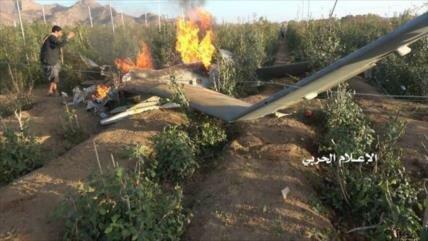 Vídeo: Fuerzas yemeníes derriban dron espía saudí en Saada