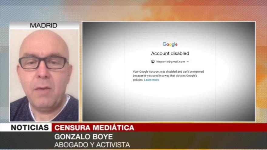 Boye: Censura de Google a HispanTV y PressTV es un abuso