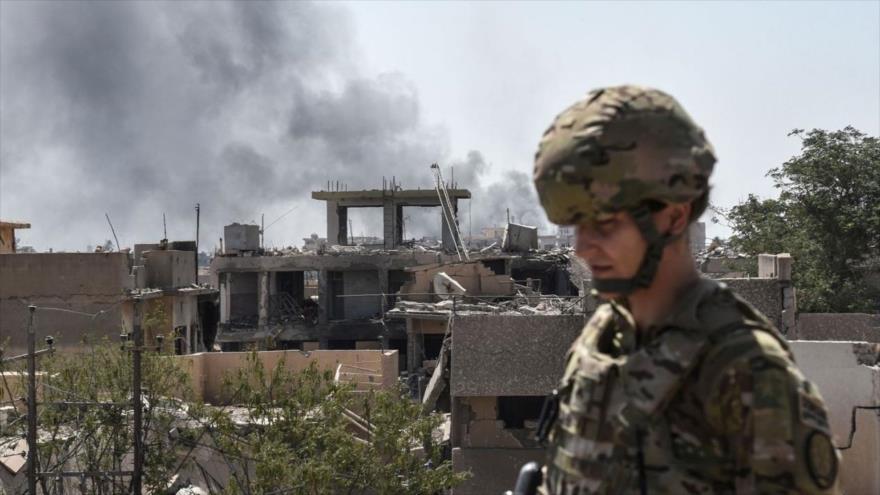 Un soldado estadounidense en la ciudad iraquí de Mosul, 21 de junio de 2017.