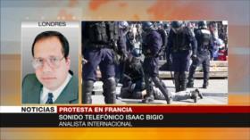 Bigio: Macron no esperaba protestas tras incendio de Notre Dame