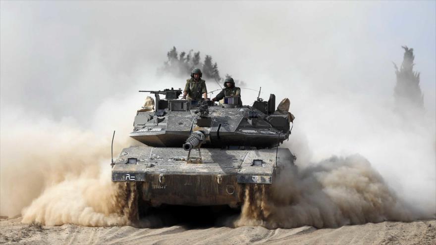 Tanque Merkava del ejército del régimen de Israel.