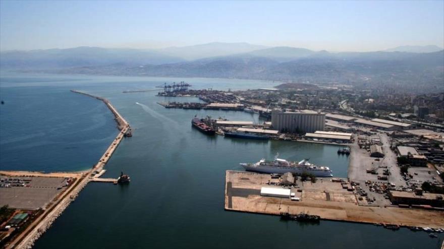 Una vista aérea del puerto sirio de Tartus, sito en el mar Mediterráneo.
