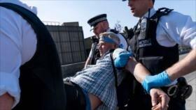 Policía británica arresta a 700 ambientalistas en Londres