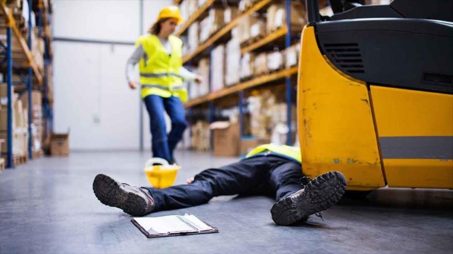 Imagen ilustrativa de un accidente laboral.