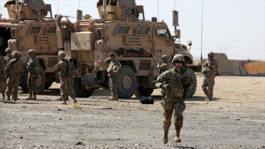 Soldados estadounidenses en una base de la llamada coalición anti-EIIL cerca de Mosul, en Irak, 21 de junio de 2017. (Fuente Reuters).
